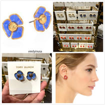 Tory Burch★Fleur Stud Earrings 花柄 ピアス*MONTEGO