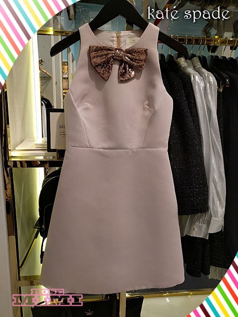日本未発売リボンキュート!kate spade sequin bow a-line dress