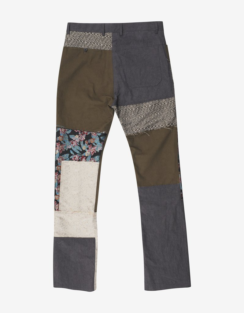 送料関税込!2018AW新作 LANVIN Patchwork Panel Trousers