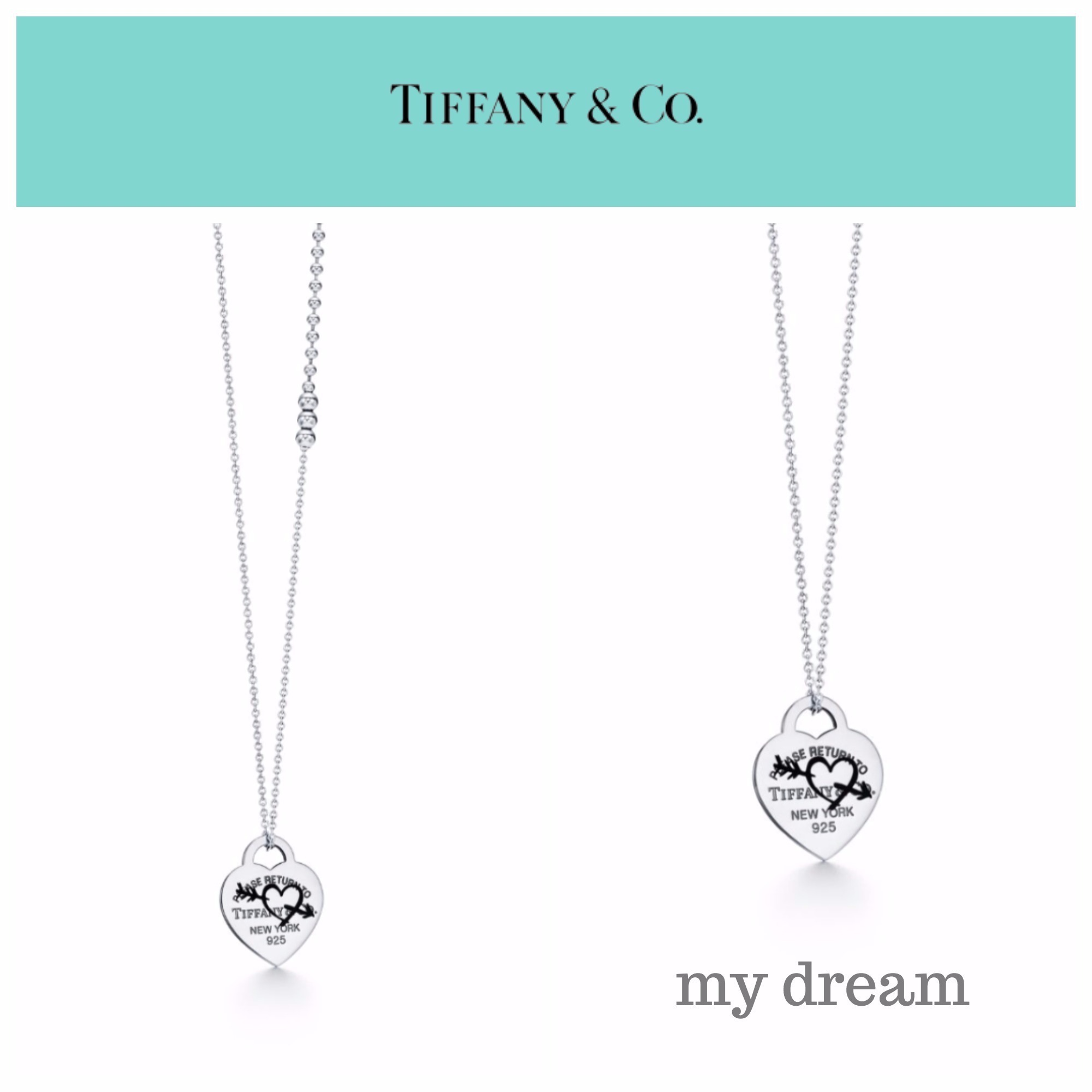 Return to Tiffany★ロングタイプ★Etched Heart Arrow Pendant