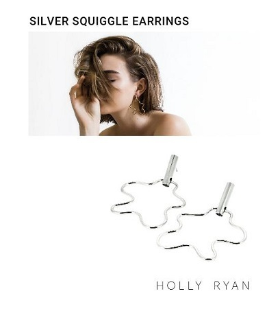 Holly Ryan 受注生産【Silver Squiggle earrings】