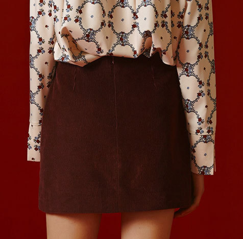 Margarin Fingers★Red Velvetイェリ愛用 CORDUROY POCKET SKIRT
