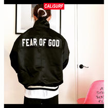 Fear of god satin half zip jacket size L