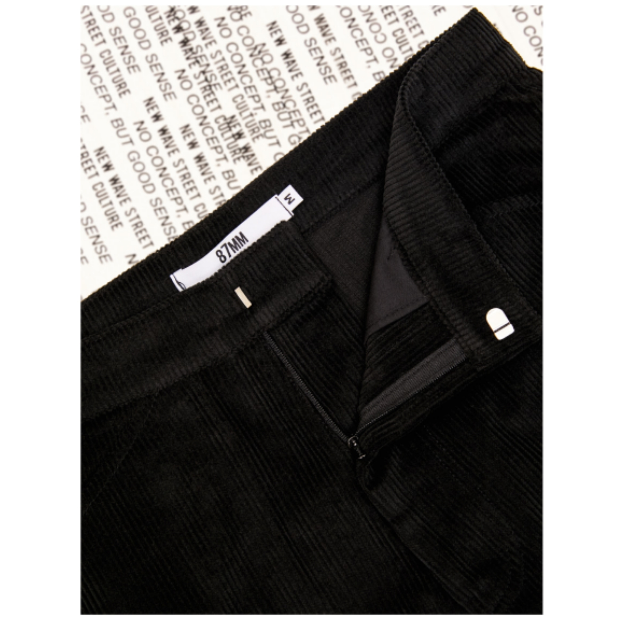 新作★87MM★BOOTSBOOTS STRAIGHT PANTS/Corduroy (BLACK)