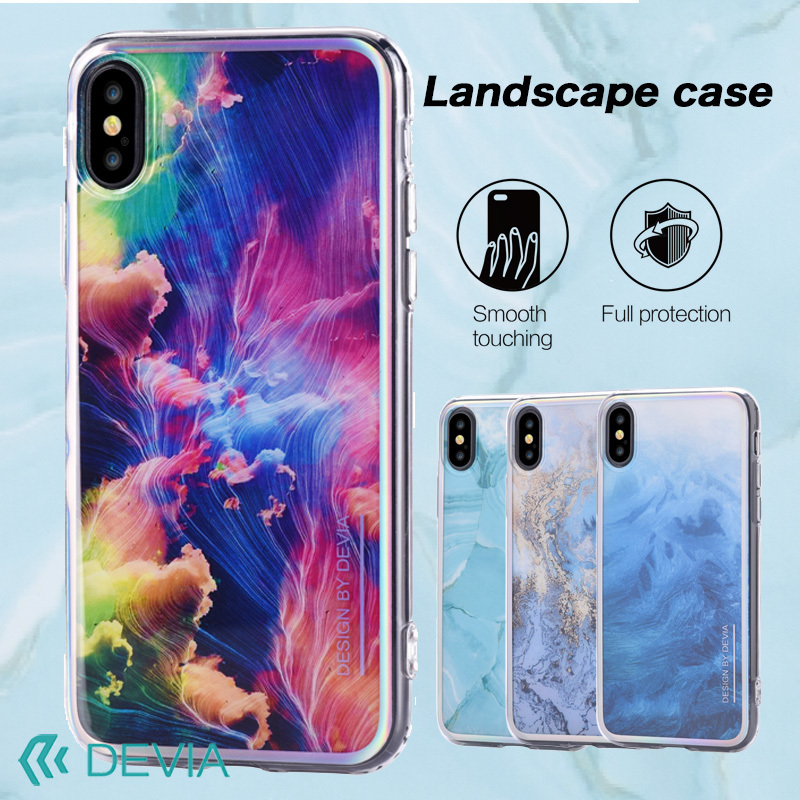 iPhone X 用 超高解像宝石デザイン/Landscape case for iPhone X