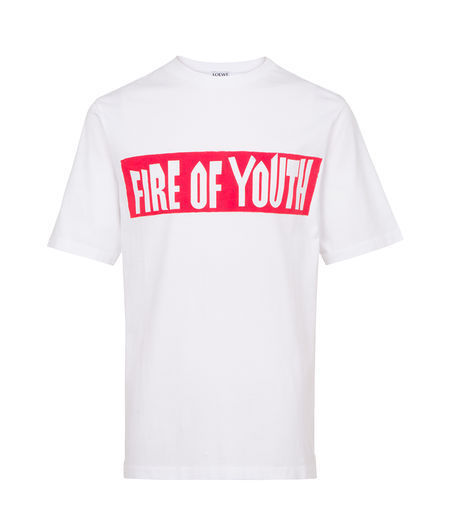 送料関税込!新作☆LOEWE T-Shirt Fire Of Youth White
