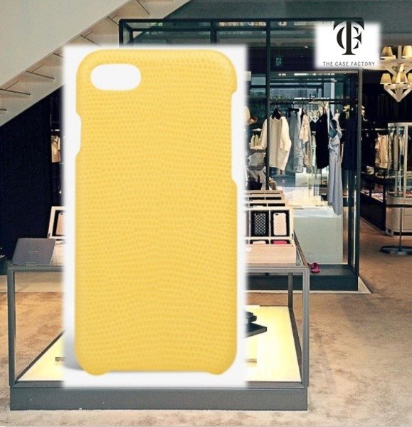 THE CASE FACTORY★IPHONE 7/8 LIZARD YELLOW