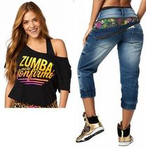 2点:ZUMBAズンバ:ConfirmoTop&LaPachangaZipperedDenimPants