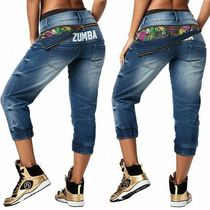 ☆ZUMBA・ズンバ☆La Pachanga Zippered Denim Pants
