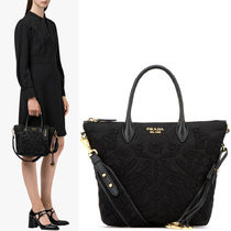 PR822 QUILTED TOTE WITH FLORAL EMBROIDERY