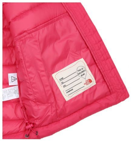 (ザノースフェイス) K'S BREEZE DOWN JACKET HOT PINK NJ1DI50T