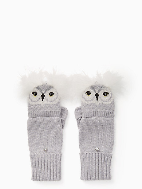 Kate spade★who me pop top mittens☆フクロウミトン・手袋