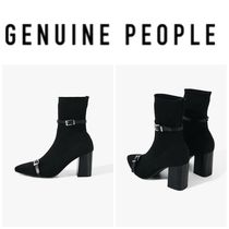 【GENUINE PEOPLE】●日本未入荷●Pointed Knitted Buckle Boots