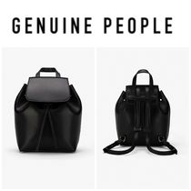 【GENUINE PEOPLE】●日本未入荷●Faux Leather Bucket Backpack