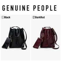 【GENUINE PEOPLE】●日本未入荷●Leather Bucket Bag