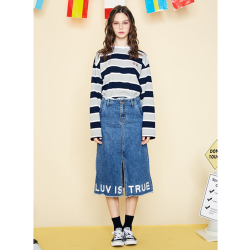 ★LUV IS TRUE★日本未入荷/SD CHEER SKIRT(BL)