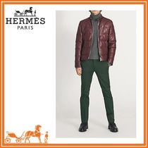 【 HERMES 】17-18AW Madison quilted lambskin jacket