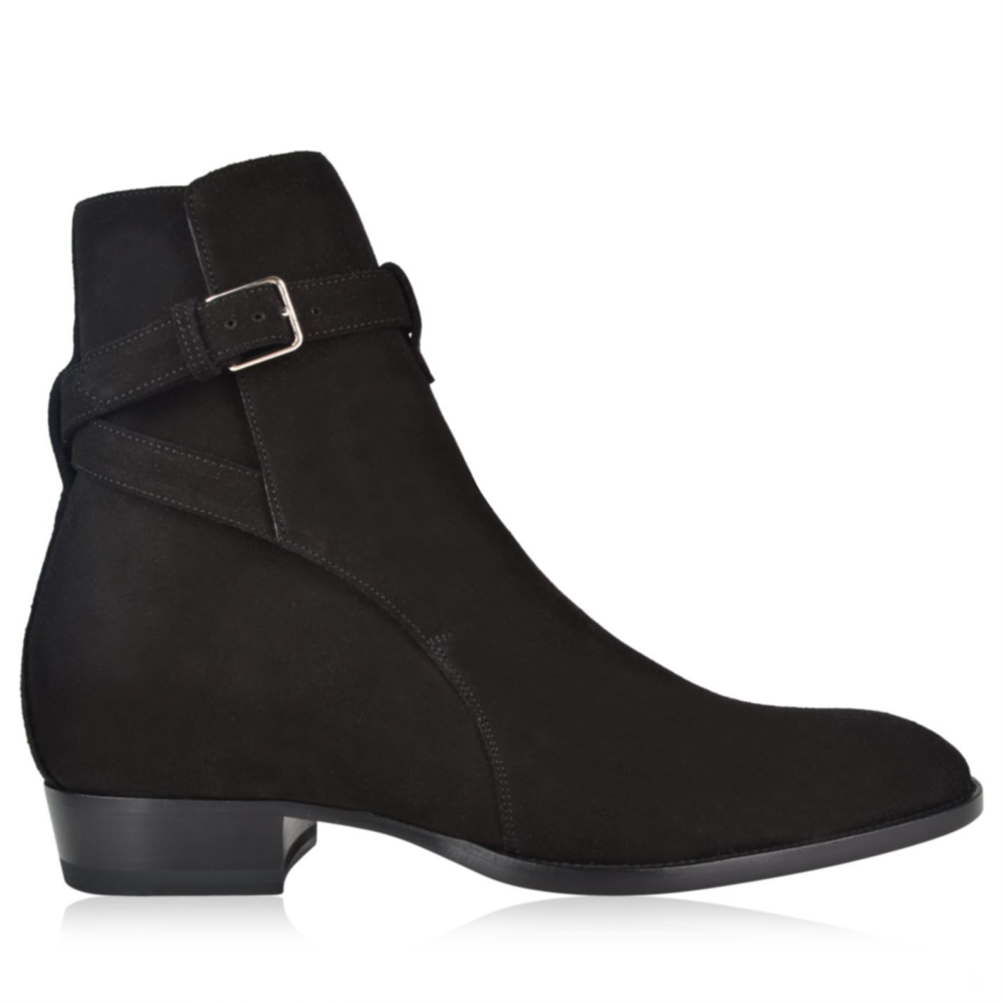【SAINT LAURENT】WYATT 30 JODHPUR ANKLE BOOTS スエード