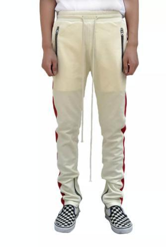 ☆関税送料込☆BEIGE TRACK PANTS - RED STRIPE