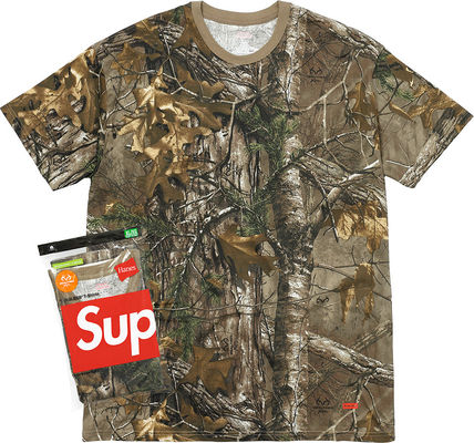 Week11新作SUPREME17FW★Hanes Realtree Tagless Tee (2Pack)