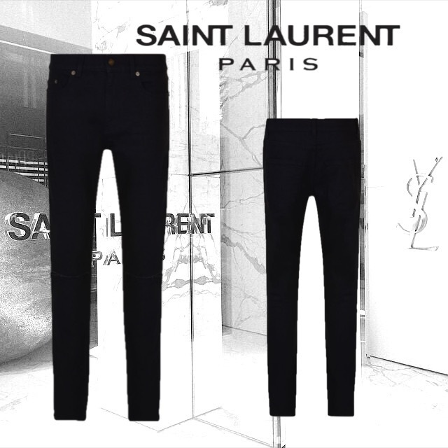【SAINT LAURENT】SKINNY RIPPED KNEE JEANS スキニーフィット