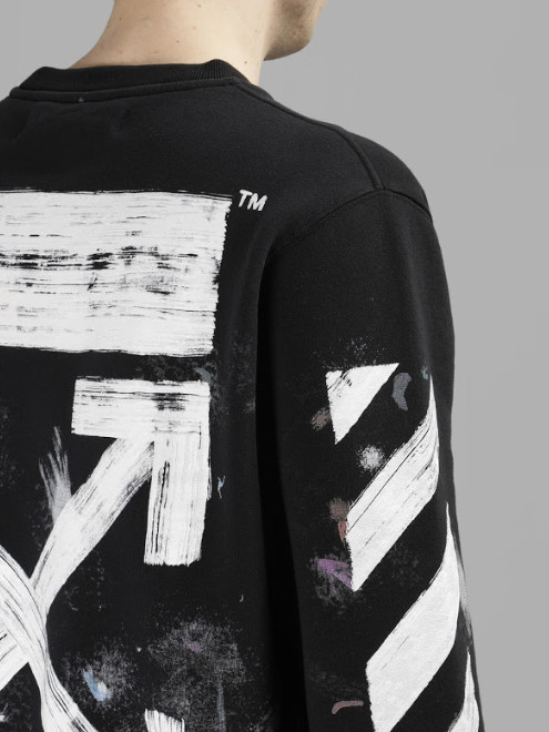 Off-White_正規品 DIAG GALAXY BRUSHED CREWNECK  [SIZE:XS~XL]