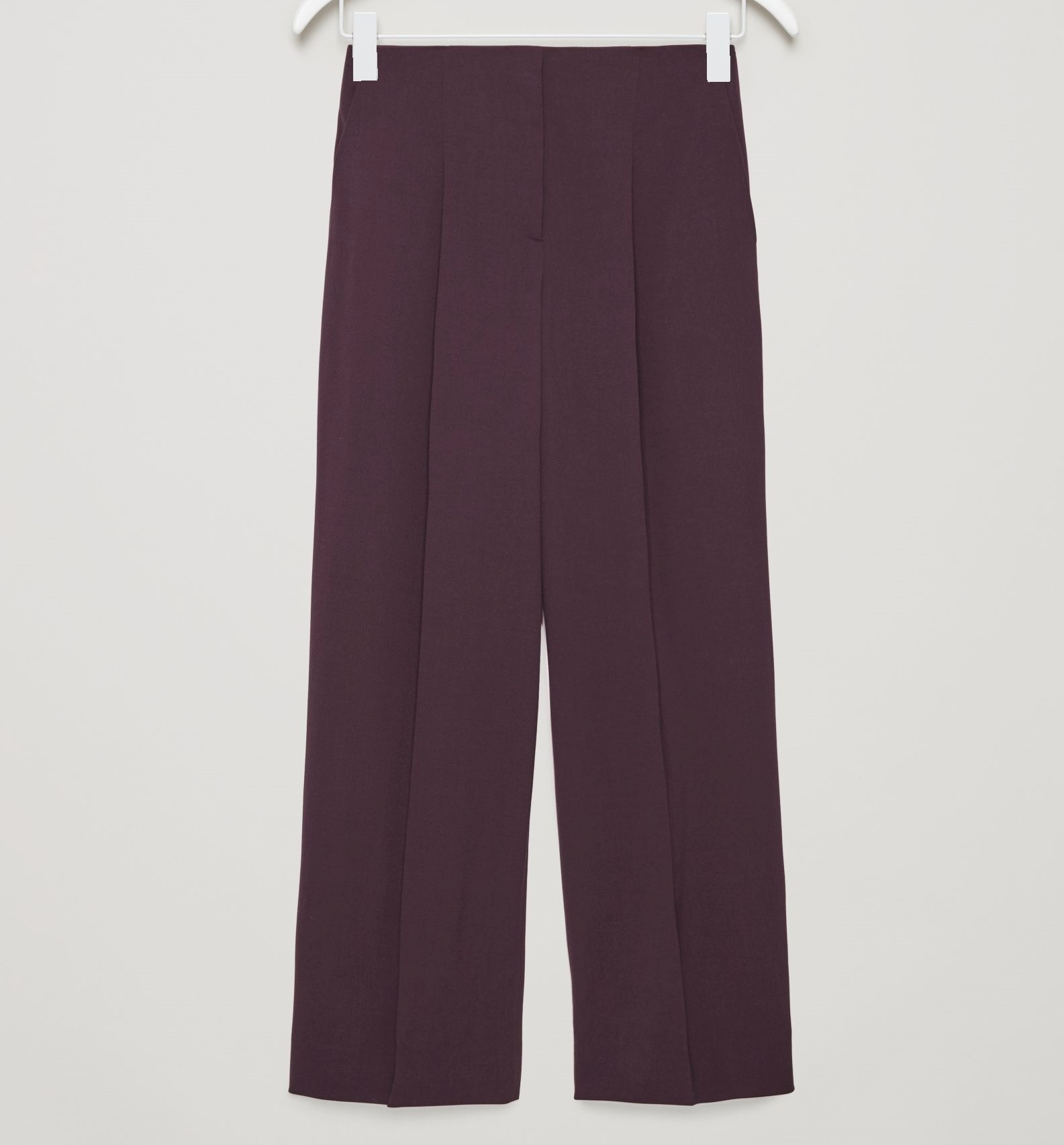 """""""COS""""WIDE-LEG TROUSERS WITH PRESS FOLDS BURGUNDY"""