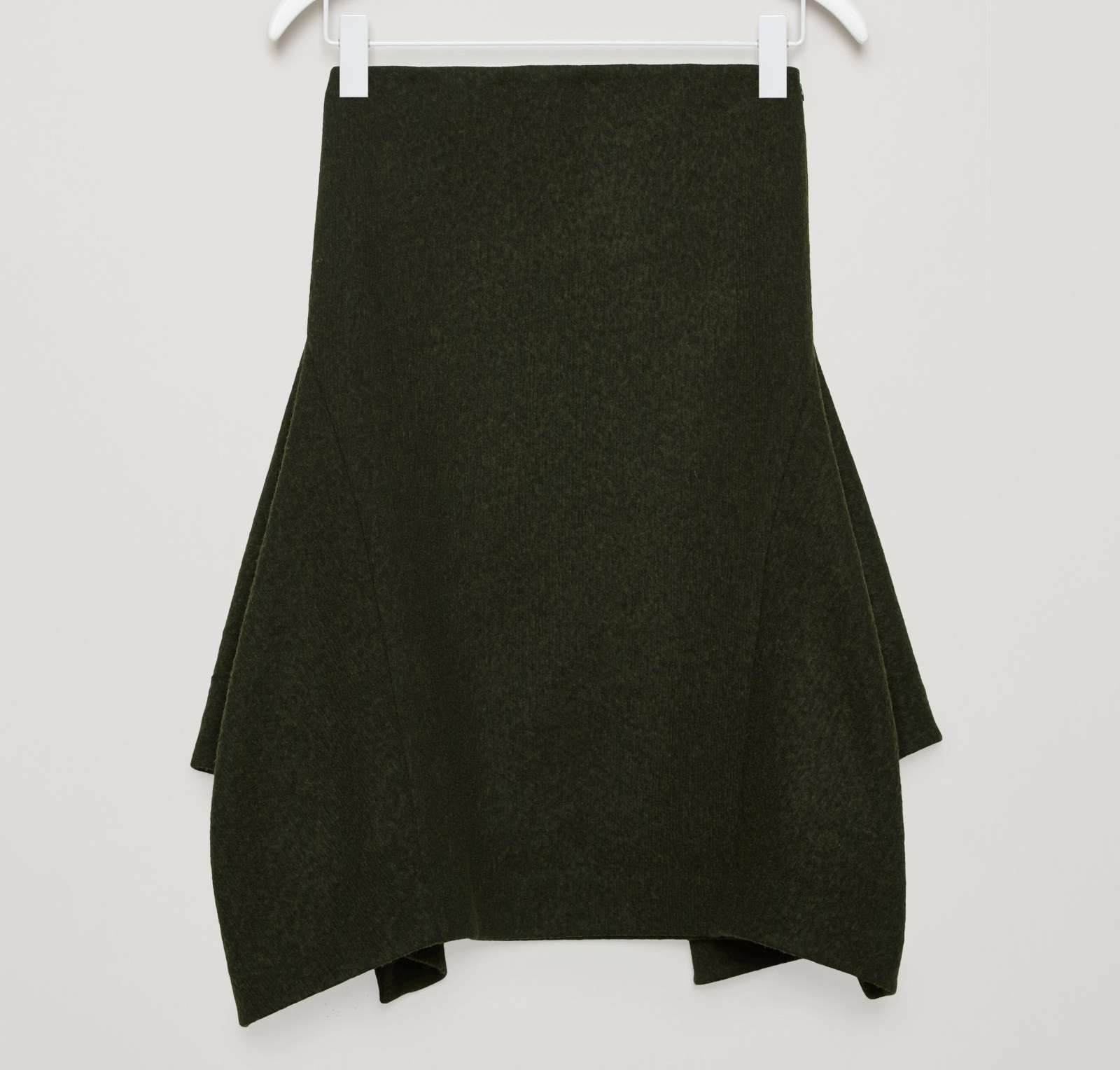 """""""COS""""TEXTURED SKIRT WITH SHAPING SEAMS DARKGREEN"""