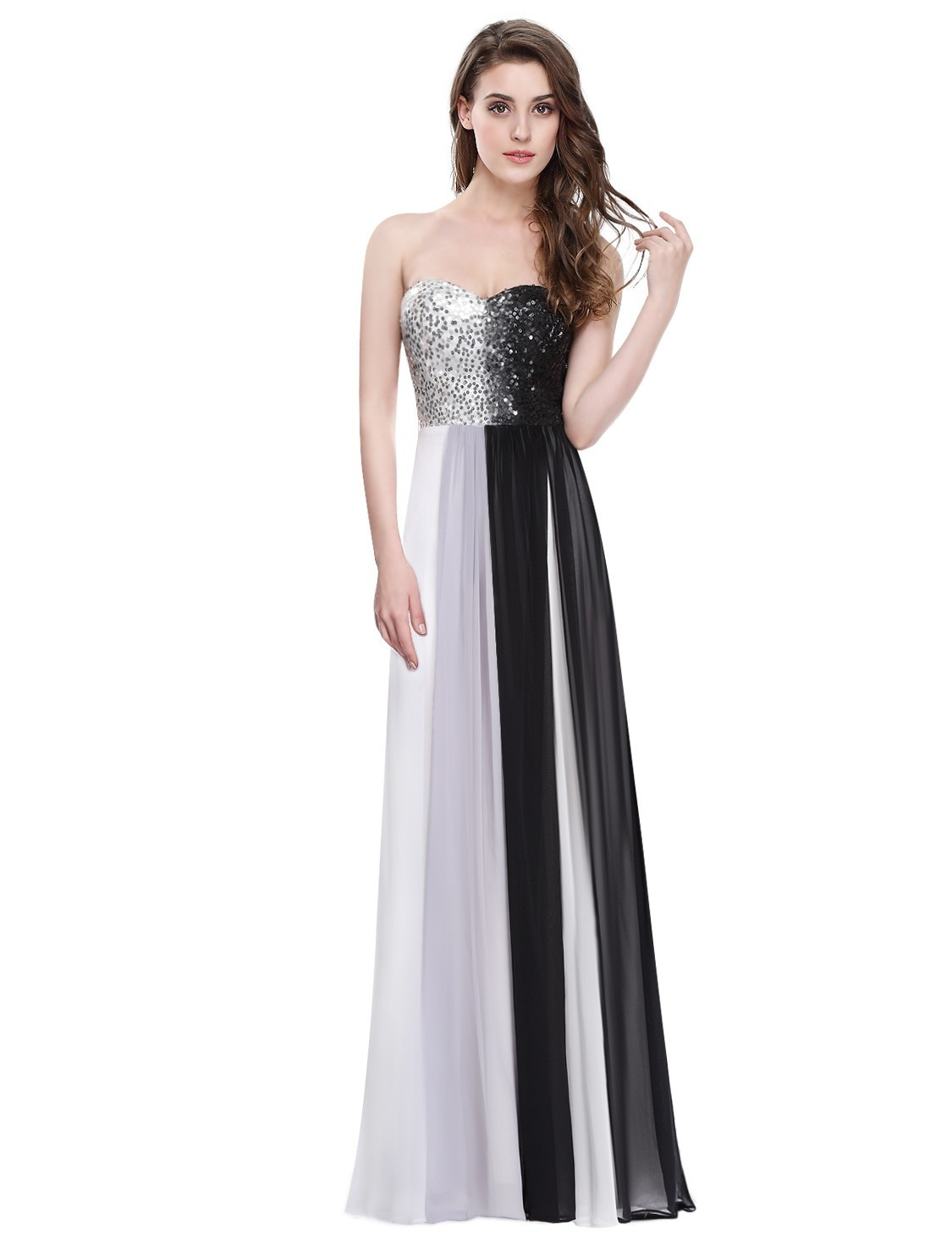 【日本未入荷】Long Strapless Sequin Prom Dress_H-215
