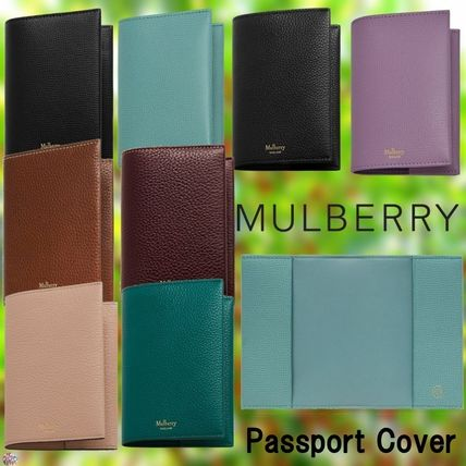 Mulberry(マルベリー)☆Passport Cover-Grain Leather-