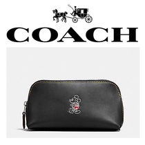 ★COACHxDISNEY★限定 MICKEY LEATHER コスメ ポーチ