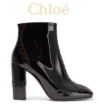 ★関税負担★CHLOE ★PERRY PATENT-LEATHER ANKLE BOOTS