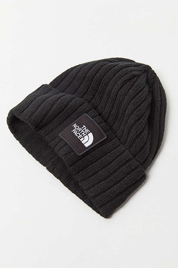 【The North Face】リブ付き*ロゴパッチデザイン*ニットキャップ