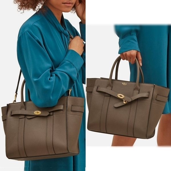 Mulberry☆Small Zipped Bayswater-Grain Leather-