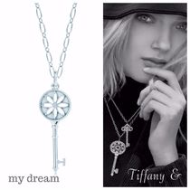 日本未入荷★Tiffany Keys★daisy key pendant oval link chain