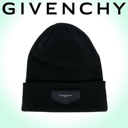 2017-18AW☆GIVENCHY☆ ロゴパッチ ビーニー Black