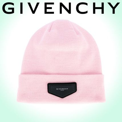2017-18AW☆GIVENCHY☆ ロゴパッチ ビーニー Light Pink