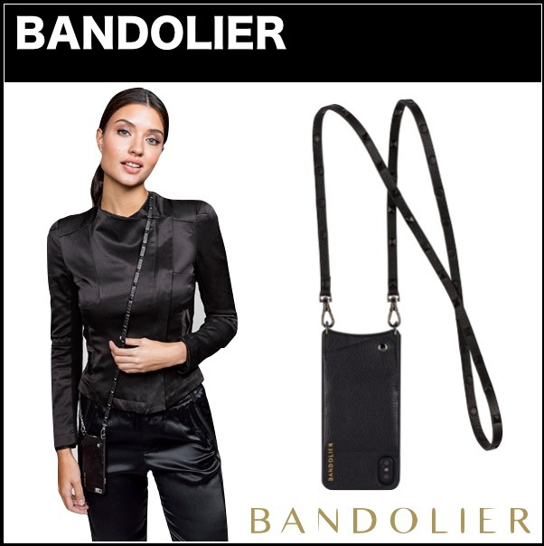 海外セレブ愛用【Bandolier】☆ iPhone X用 ☆ SARAH Black X