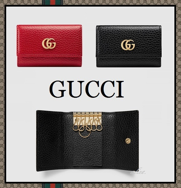 2017ss★GUCCI★大人気♪ Petite GG Marmont レザーキーケース
