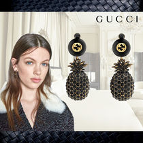 【Gucci】グッチ★Pineapple and pearl earrings with crystals