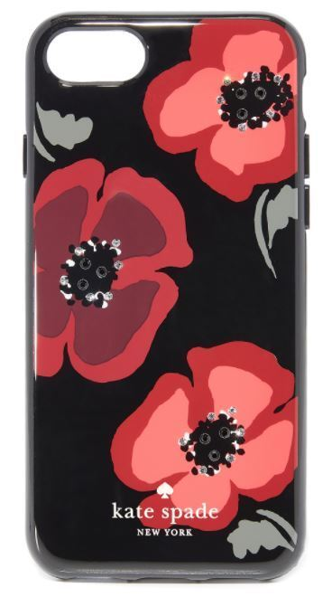 Kate Spade★Jeweled Poppy iPhone7/8 Case★ジュエルドポピー★