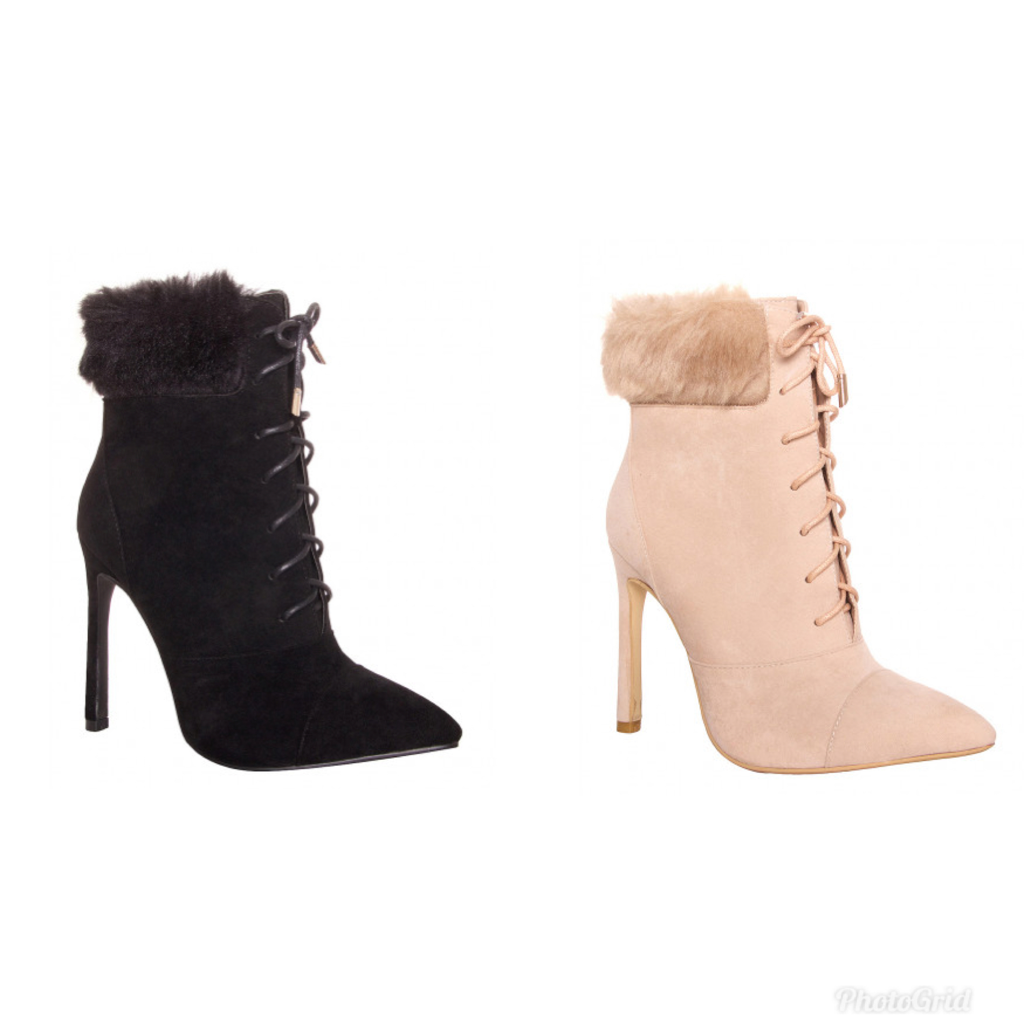 SIMMI★2色★Faux Fur Ankle Boots