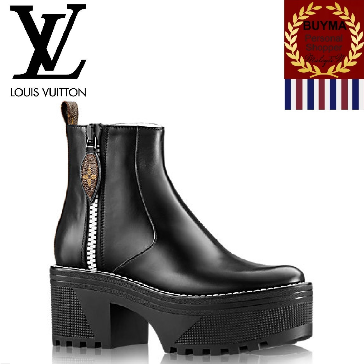 Louis Vuitton パワースクワッド プラットフォーム Ankle Boot