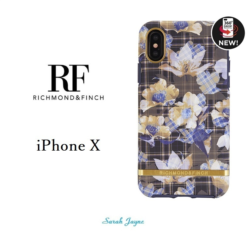RICHIMOND&FINCH☆ iPhoneケース ☆FLORAL CHECKED iPhoneX