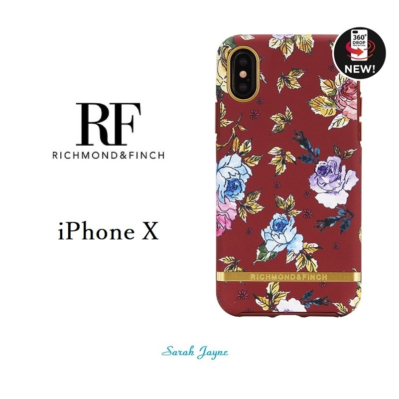 RICHIMOND&FINCH☆ iPhoneケース ☆RED FLORAL iPhoneX