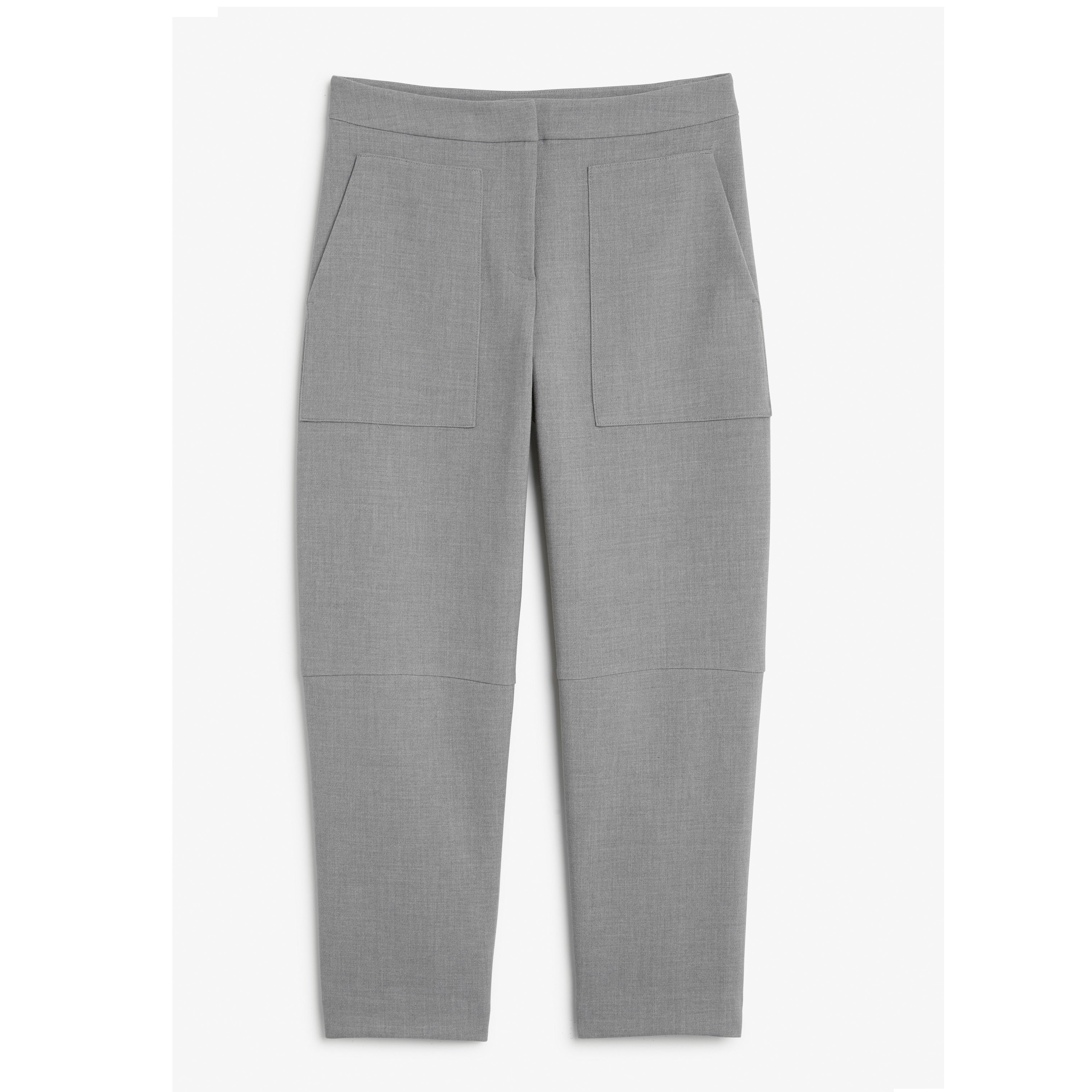 """""""MONKI""""Cropped trousers tapered Gray"""