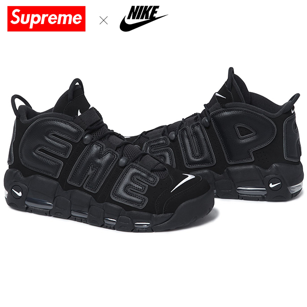 国内 正規品 [27.5cm] Supreme x Nike Air more uptempo 黒タグ