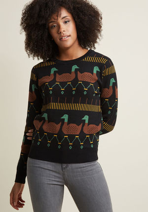 Animal Lover pepaloves duck and discover intarsia sweater