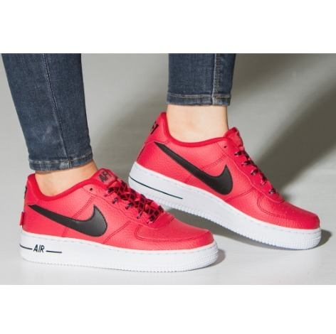 人気!Nike AIR FORCE 1 LV8 GS University red 22.5~24cm