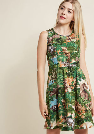 Animal Lover land before sublime a-line dress in dinos